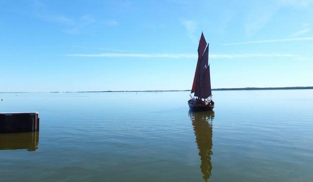 Zees(en)boot auf dem Saaler Bodden bei Dierhagen