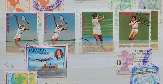 Briefmarken - Boris Becker auf einer Marke aus Paraguay ...
